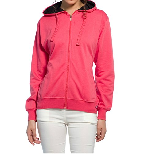 Alan Jones Full Sleeve Solid Woman's Sweatshirt (WM17-SS01-CARROT-M Medium Carrot)