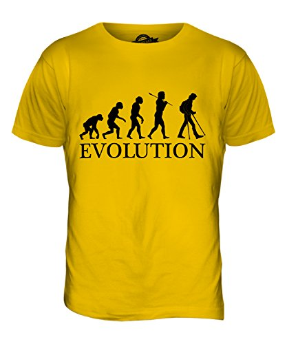 CandyMix Unterarmgehstütze Evolution Des Menschen Herren T Shirt Dunkelgelb