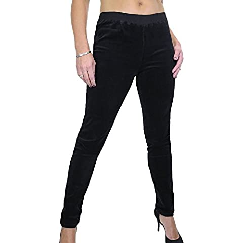 ICE (1538-1) Jeggings Stile Jogging Velluto con Filo Elastico