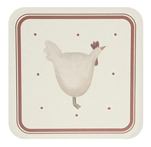Happy Hens Coasters Pack 6 by David Mason