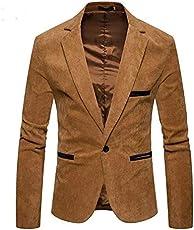 personality plus Men's Slim fit Party wear Blazer Swede Beige