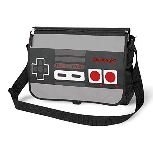 Nintendo UmhängetascheController Tasche mit Wendemotiv Messenger Bag großes Innenfach lizenziert