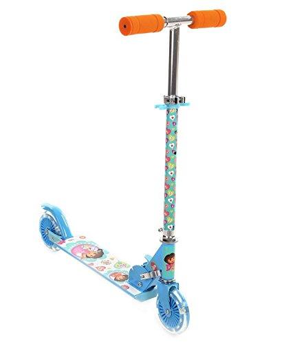 My Baby Excel Dora 2 Wheel Scooter with Lights, Blue/Orange