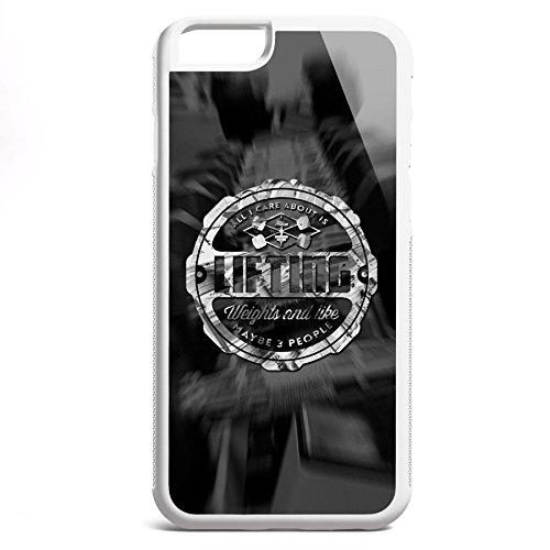 Smartcover Case All I care about is Lifting z.B. für Iphone 5 / 5S, Iphone 6 / 6S, Samsung S6 und S6 EDGE mit griffigem Gummirand und coolem Print, Smartphone Hülle:Samsung S6 EDGE weiss Iphone 6 / 6S weiss