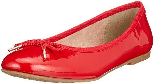 Tamaris Damen 22123-21 Geschlossene Ballerinas, Rot (Chili Patent 520), 38 EU