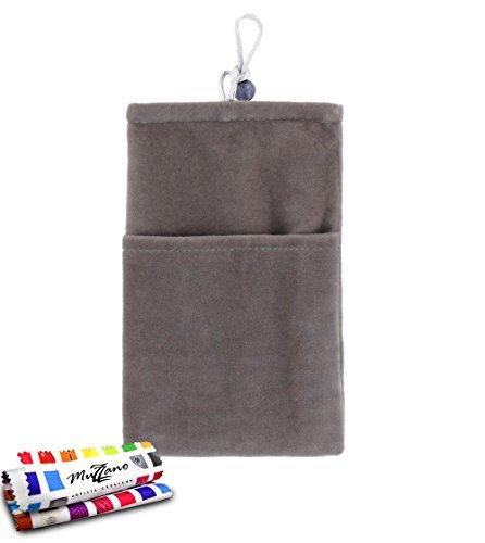 Original MUZZANO Cocoon, per Apple iPhone 5S, colore: grigio - Original Style Velour