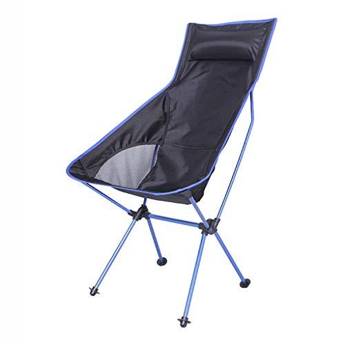 ZDY1201 Fischen-Stuhl-Kissen-Aluminiumrohr-tragbarer Erwachsener Klappstuhl im Freien (Color : D) - Hohe Zurück Stuhl Im Freien Kissen