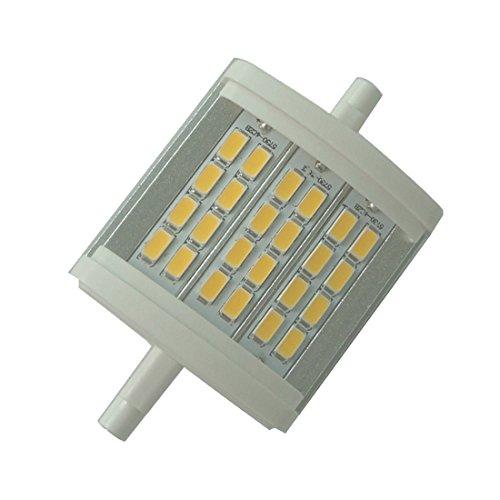 Qlee LED-Licht R7S 78 mm J78cm dimmbar 10W Tageslicht 6000 K Wechselstrom 230V 1000lm doppelseitig J78 LED-Flutlicht für Halogenersatzlampe mit 75W 100W Halogen -