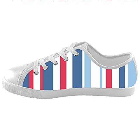 Custom Colorful stripe Kids Canvas Shoes Footwear Sneakers Shoes