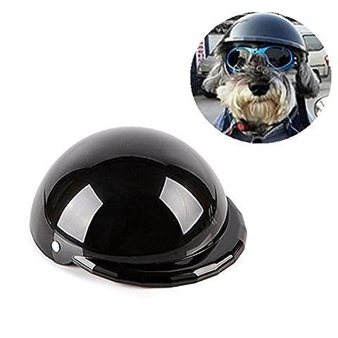 Noir Costumes Cap - MyTop Chapeau de casque pour animal domestique