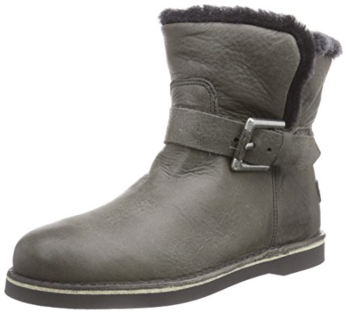 Shabbies Amsterdam Shabbies buckle strap short boot 17cm DF55 Merino lammy lining Alexia, Stivaletti classici imbottiti, corti donna,  Grigio (Grau (Sottobosco 459)), 38