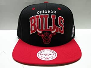 Mitchell & Ness NBA Chicaco Bulls Arch Black Red 2 Tone Snapback Cap