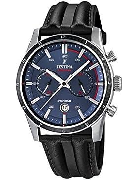 Festina Herren-Armbanduhr Chronograph Quarz Leder F16874/2
