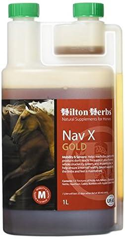 Hilton Herbs NAV-X Gold 1 L Complément Alimentaire Cheval Foubure et Naviculaire