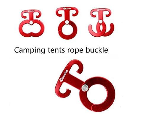 5 pces Alliage d'aluminium Fast Hanging Camping Tent Boucle de