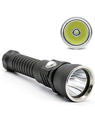 SOOJET MT65 CREE L2 LED Tauchlampe - 2000 Lumen Taschenlampe Wasseedicht - Magnet Stufenlose Schalter Handlampe