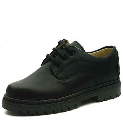 BOSTON Step2wo School Shoe Laceup for Boys >     > Schulschuh schnüren sich oben für Jungen Black (Schwarz)