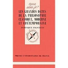 LES GRANDES DATES DE LA PHILO. Classique moderne, 2ème édition
