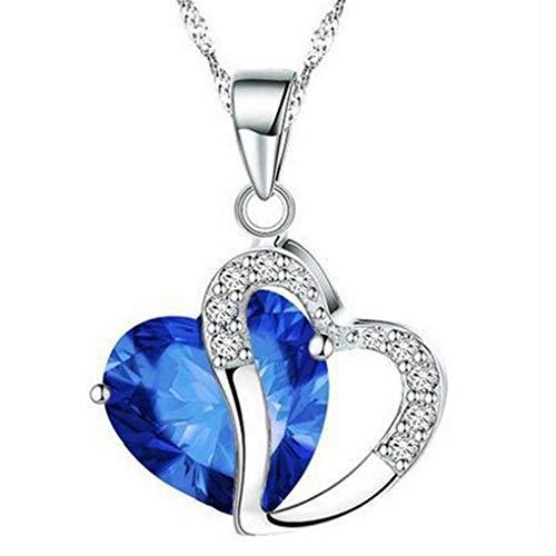 Dorical Damen 925 Sterling Silber 3A Zirkonia Halskette exquisite Geschenk/Frauen Halskette Beliebte Schmuck dchen Geschenk Promo(I)