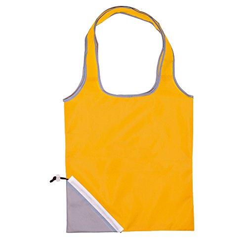 Acquisto pieghevole Grocery Bag Lightweight Nylon Tote Carry Shouder Supermercato (rosso) giallo