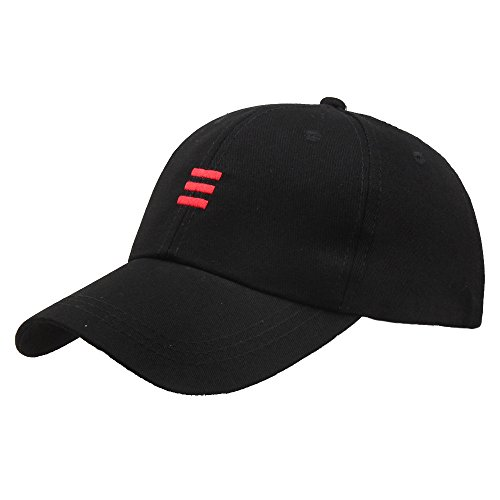 SEWORLD Unisex Hüte Hip Hop Verstellbare Beiläufig Baseballmütze Männer Frauen Baseball Kappen(Schwarz)