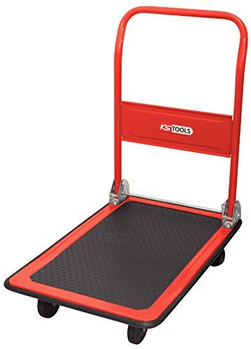 KS Tools 800.0015 - Carretilla de plataforma para almacén y taller, abatible