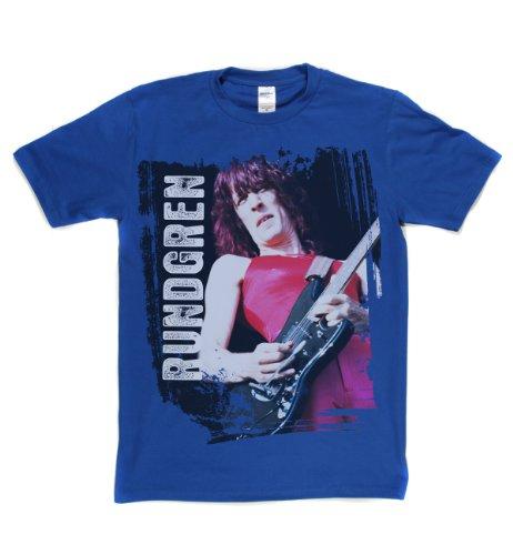 Todd Rundgren Poster American 1970s Rock T-shirt Königsblau