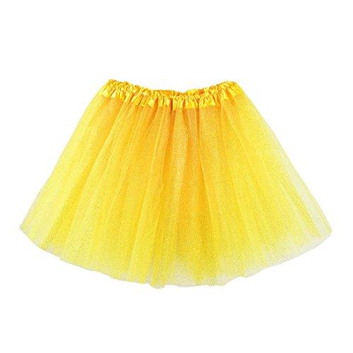 Kostüm Jungen Ballett Tanz Für - erthome Baby Mädchen Rock, Kinder Mädchen Tanz Fluffy Tutu Röcke Pettiskirt Ballett Kostüm kleidung 3-8 Jahre (Gelb)