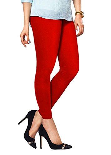 Lux Lyra Ankle Length Leggings, Red