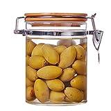CASILE Vetro Contenitori Dispenser Dispenser per Alimenti Portatile,per Latte in Polvere, Snack, conservazione del Grano,L100*H143mm