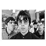 Box Prints Oasis Gallagher fratelli musica leggende poster stampa nero bianco incorniciato picture art small large