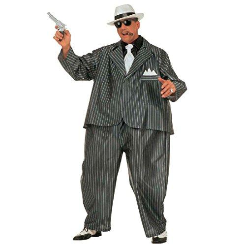 NET TOYS Gangster Mafia Fett Kostüm Al Capone Fat Suit Kostüm Ganove Gangsterkostüm Ganovenkostüm Fettkostüm Fasching Karneval M-L - Al Capone Gangster Kostüm
