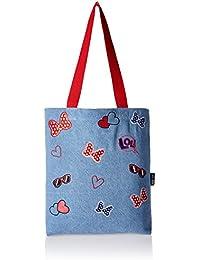 28095ea1e885 Kanvas Katha Women s Tote Bag (Light Blue) (KKDET002)