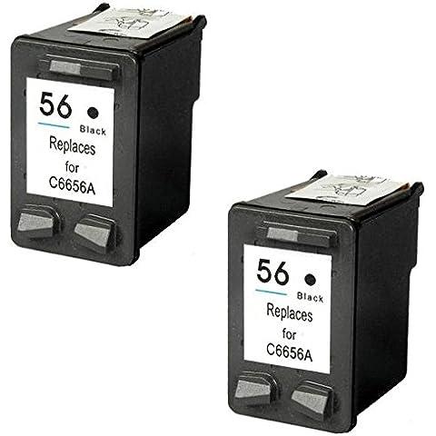 Prestige Cartridge HP 56 Pack de 2 cartuchos de tinta para HP Photosmart/Deskjet/Officejet Serie,