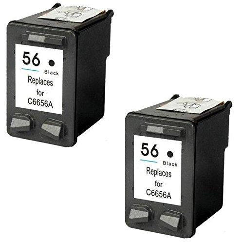 Prestige Cartridge HP 56 2 Cartucce d'Inchiostro Compatibile per Stampanti