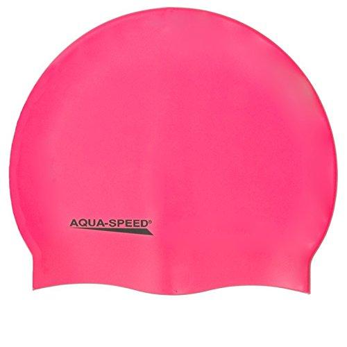 Aqua Speed MEGA Badekappe aus Super-Stretch-Silikon (Bademütze Badehaube Swimming Cap), Modell:Mega/pink 03