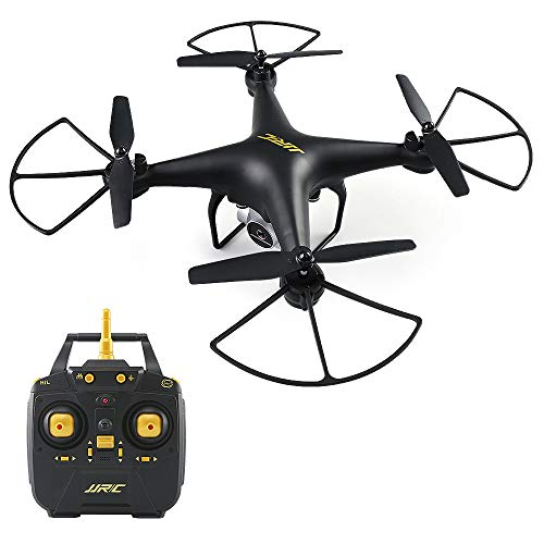 40 Minuti di Tempo di Volo RC Drone, H68 FPV Quadcopter con 720P HD Fotocamera Live Video Trasmissione in Tempo Reale Altoparlante Hold Mode Altitude Hold Helicopter 2 Batterie - Nero