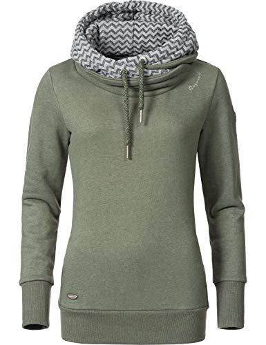 Oliven-armee Pullover-sweatshirt (Ragwear Damen Kapuzenpullover Sweatshirt Doblin Olive Gr. XXL)