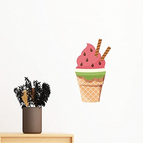 DIYthinker Biscuits Watermelon Kegel Eiscreme entfernbarer Wand-Aufkleber Wand-DIY Tapete Vinyl Room Home Decor Aufkleber 70Cm Elfenbein -