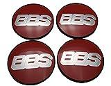 BBS Original Emblem Nabendeckel Rot Silber Nabenkappe Felgendeckel 70mm 4K Felgenabdeckung