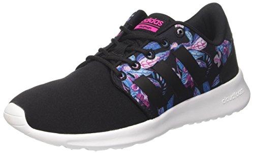 adidas Damen Cloudfoam Qt Racer Sneakers, Schwarz (Cblack/Cblack/Shopin), 40 2/3 EU
