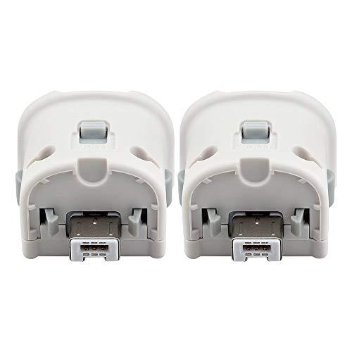 Maliralt Wii Motion Plus Adapter - 2 Stück, LP07 Externer Motion Plus Sensor Beschleunigungsadapter für Nintendo Wii/Wii U Fernbedienung, Schwarz, 2 Stück (Wii Motion Plus Schwarz)