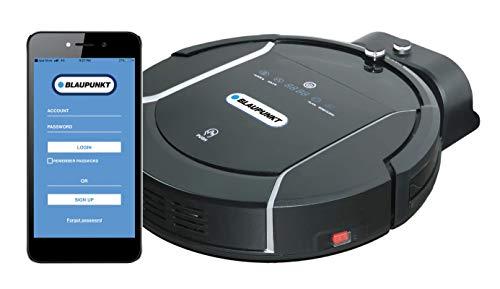 Blaupunkt XSMART Roboter staubsauger mit Alexa Sprachsteuerung, App und Fernbedienung, Robotstaubsauger mit wischfunktion, Staubsaugerroboter für Tierhaare, Saugroboter mit 180m2 Reichweite