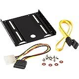 Poppstar 1004849 - Kit de instalación para SSD/HDD internos, incluye el marco de montaje y los tornillos de 6,4 cm (2.5 pulgadas), también el cable SATA 3, que posibilita una transmisión rápida de datos