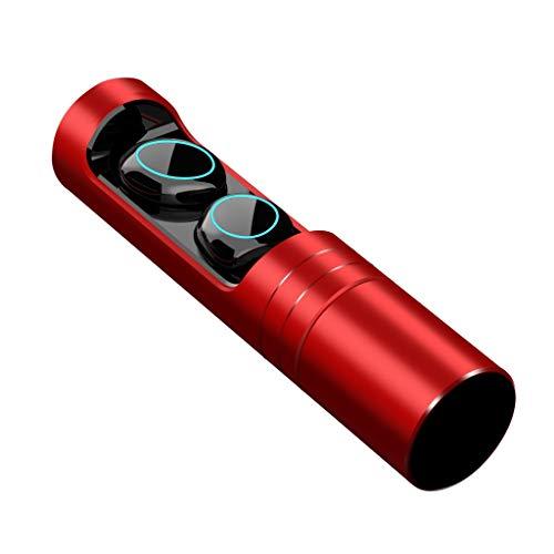 【2019 Neueste】Neubula A9 Bluetooth Kopfhörer V5.0 Stereo IPX7 Wasserdicht Sport Kopfhörer In-Ear Kabellos Ohrhörer Magnetische Headset 8 Stunden Spielzeit für iPhone Samsung Huawei Smartphones (Rot)