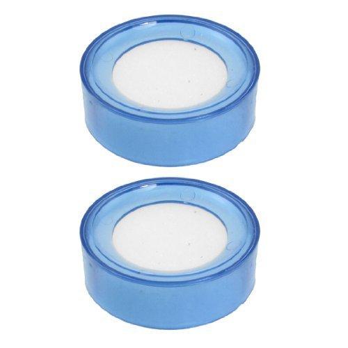 TOOGOO(R) 2 x Hellblau Plastik Rund Sache Finger Nass Schwamm fuer Bargeld 6.9cm Durchmesser