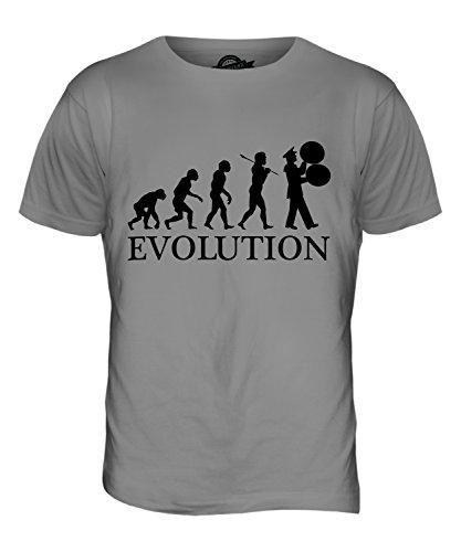 Candymix Marching Band Spielmannszug Evolution Des Menschen Herren T Shirt, Größe Small, Farbe Hellgrau