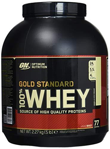 Optimum Nutrition 100% Whey Gold Standard (5lbs) Vanilla Ice Cream, 2.27 kg