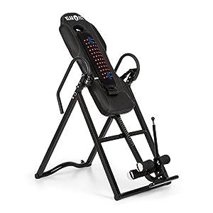 Klarfit Ease Delux – Inversionsbank, Schwerkrafttrainer, Rückentrainer, Inversionstisch, Entlastung der Wirbelsäule, bis 136 kg Körpergewicht, schwarz oder beige