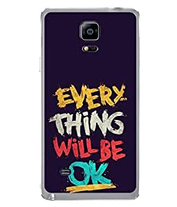 Snapdilla Designer Back Case Cover for Samsung Galaxy Note 4 :: Samsung Galaxy Note 4 N910G :: Samsung Galaxy Note 4 N910F N910K/N910L/N910S N910C N910Fd N910Fq N910H N910G N910U N910W8 (Greeting Graphic Design Backcover Wallpaper Idea Concept Art)